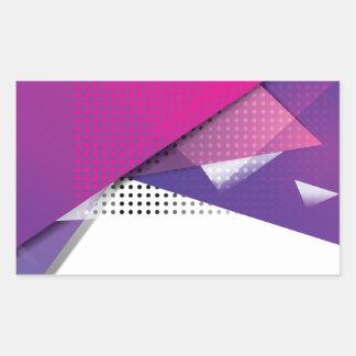 Wellcoda Purple Triangle Print Trend Set Rectangular Sticker