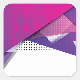 Wellcoda Purple Triangle Print Trend Set Square Sticker