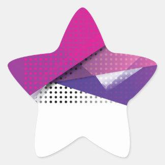 Wellcoda Purple Triangle Print Trend Set Star Sticker