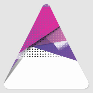 Wellcoda Purple Triangle Print Trend Set Triangle Sticker