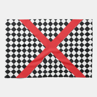 Wellcoda Red Cross Pattern Vote Flag Flyer Hand Towel