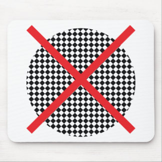 Wellcoda Red Cross Pattern Vote Flag Flyer Mouse Pad