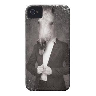 Wellcoda Retro Animal Portrait Horse Face iPhone 4 Case-Mate Case
