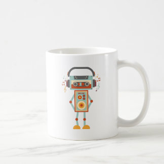 Wellcoda Robot Music Tape Dj Headphones Coffee Mug