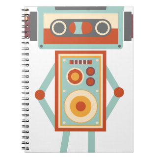Wellcoda Robot Music Tape Dj Headphones Notebook