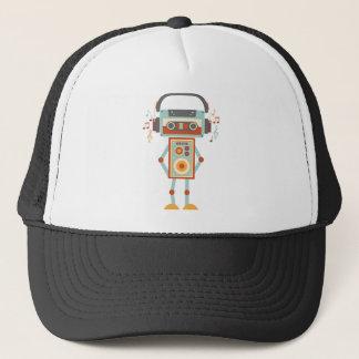 Wellcoda Robot Music Tape Dj Headphones Trucker Hat