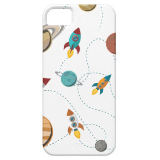 Wellcoda Rocket Space Landing Moon Wars iPhone SE/5/5s Case