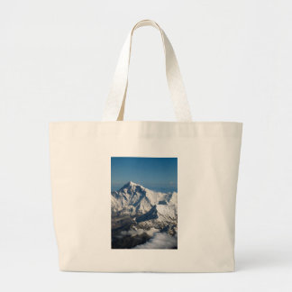 Wellcoda Rocky Mountain Range Snow Rock Large Tote Bag