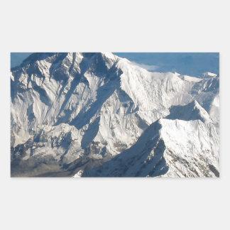 Wellcoda Rocky Mountain Range Snow Rock Rectangular Sticker