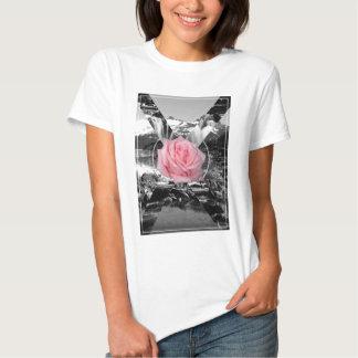 Wellcoda Rocky Mountain Rose Nature Love Tee Shirt