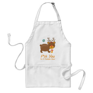 Wellcoda Rudolf Bear Animal Wild Reindeer Adult Apron