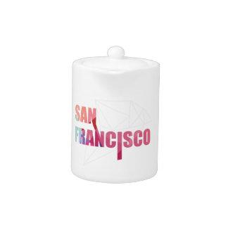 Wellcoda San Francisco City USA California Golden Teapot
