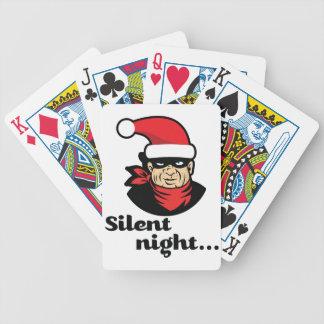 Wellcoda Santa Claus Burglar Merry Xmas Bicycle Playing Cards