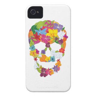 Wellcoda Scary Flower Skull Burial Ground iPhone 4 Case-Mate Case