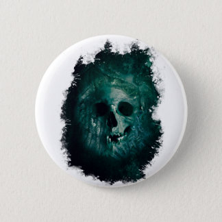 Wellcoda Scary Horror Skull Face Skeleton Button
