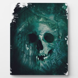 Wellcoda Scary Horror Skull Face Skeleton Plaque