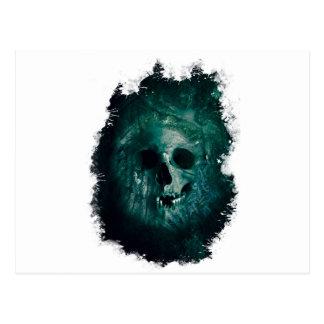 Wellcoda Scary Horror Skull Face Skeleton Postcard