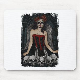 Wellcoda Scary Skull Sexy Girl Demon Evil Mouse Pad