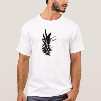 Wellcoda Scary Vampire Face Eagle Flight T-Shirt