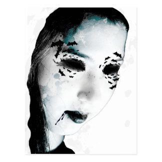 Wellcoda Scary Vampire Monster Villain Postcard
