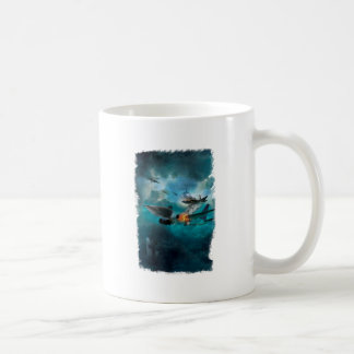 Wellcoda Shark Attack Airplane Air Combat Coffee Mug