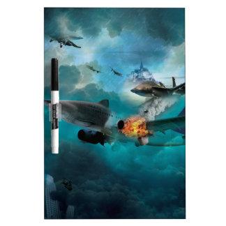 Wellcoda Shark Attack Airplane Air Combat Dry Erase Board