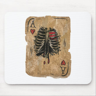 Wellcoda Skeleton Ace Hearts Ribcage Card Mouse Pad