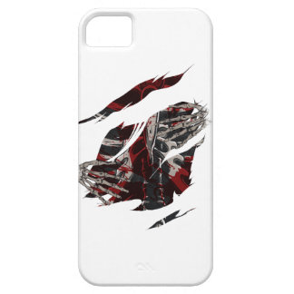 Wellcoda Skeleton Blood Rib Torn Cage iPhone SE/5/5s Case