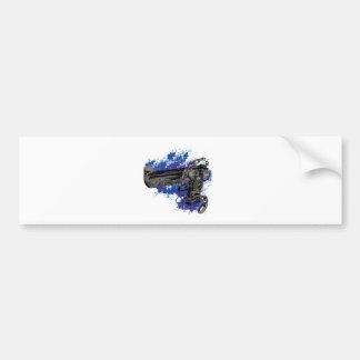 Wellcoda Skeleton Revolver Pistol Chain Bumper Sticker
