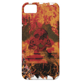 Wellcoda Skull Fire Death Tank Burning iPhone SE/5/5s Case
