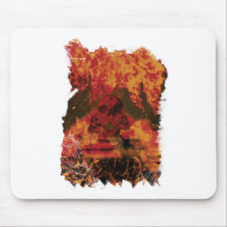 Wellcoda Skull Fire Death Tank Burning Mouse Pad