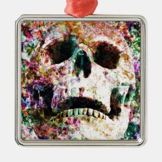 Wellcoda Skull Flower Garden Grave Yard Metal Ornament
