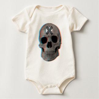 Wellcoda Skull Head 3D Die Death Skeleton Baby Bodysuit