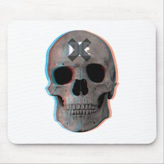 Wellcoda Skull Head 3D Die Death Skeleton Mouse Pad