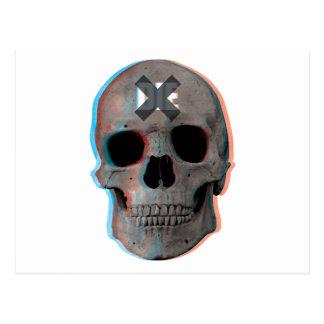 Wellcoda Skull Head 3D Die Death Skeleton Postcard