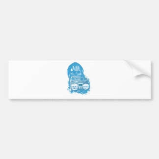 Wellcoda Skull Head Dead Music Rock&Roll Bumper Sticker