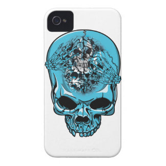 Wellcoda Skull Head Scalp Horror Face iPhone 4 Case-Mate Case