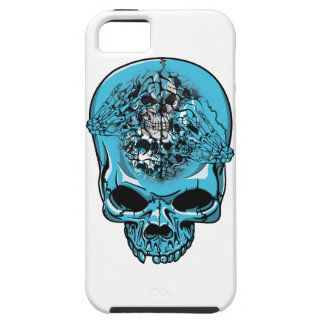 Wellcoda Skull Head Scalp Horror Face iPhone SE/5/5s Case