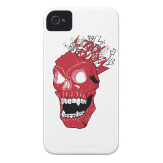 Wellcoda Skull Rock&Roll Music Scalp Head iPhone 4 Cover