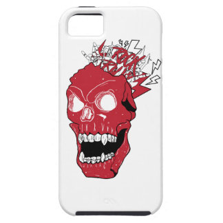 Wellcoda Skull Rock&Roll Music Scalp Head iPhone SE/5/5s Case