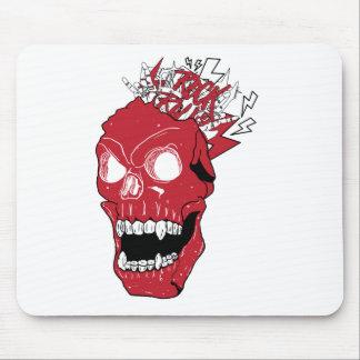 Wellcoda Skull Rock&Roll Music Scalp Head Mouse Pad