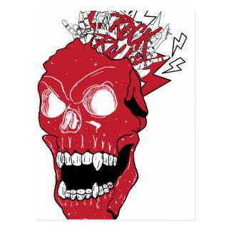 Wellcoda Skull Rock&Roll Music Scalp Head Postcard