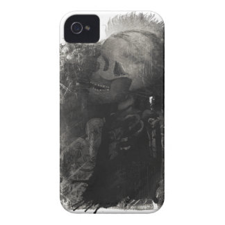 Wellcoda Skull Scary Macabre Power Death iPhone 4 Case-Mate Case