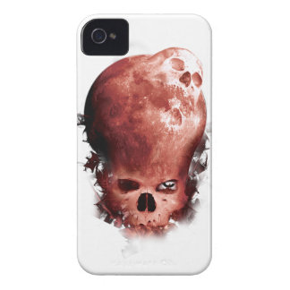 Wellcoda Skull Scary Moon Face Apocalypse iPhone 4 Cover