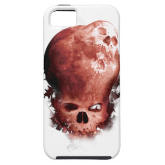 Wellcoda Skull Scary Moon Face Apocalypse iPhone SE/5/5s Case
