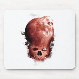 Wellcoda Skull Scary Moon Face Apocalypse Mouse Pad