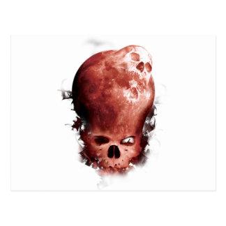 Wellcoda Skull Scary Moon Face Apocalypse Postcard