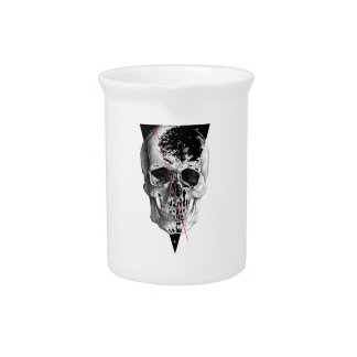 Wellcoda Skull Triangle Death Horror Face Beverage Pitchers