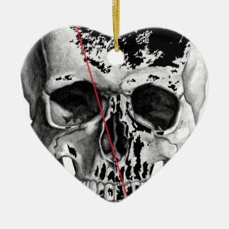 Wellcoda Skull Triangle Death Horror Face Ceramic Ornament