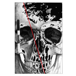 Wellcoda Skull Triangle Death Horror Face Dry Erase Board